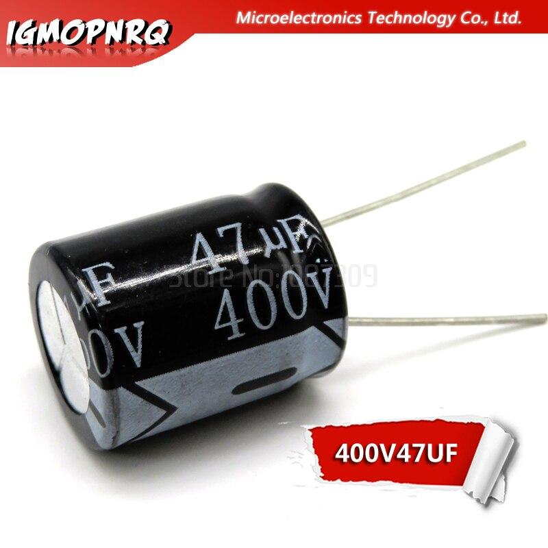 10 шт. 400V47UF 16*22 мм, 47 (Европа) мкФ 400V 16*22 электролитический конденсатор с алюминиевой крышкой, новый оригинальный