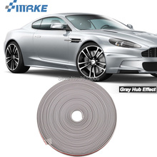 smRKE 8M Car Wheel Hub Rim Edge Protector Ring Tire Strip Guard Rubber Stickers On Cars Gray Styling