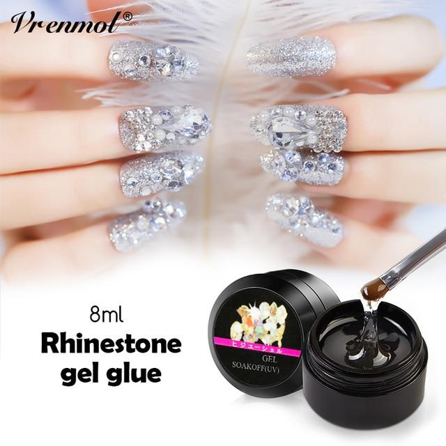 Vrenmol 1pcs Super Sticky Nail Glue Rhinestone Uv Gel Varnish Jewelry Decoration For