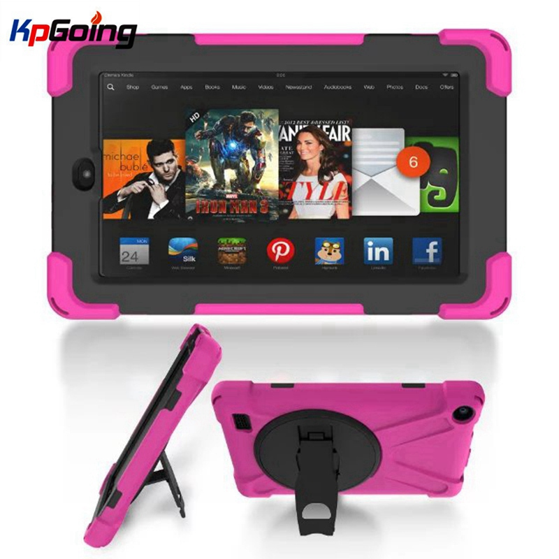 For Kindle Fire 7 Case 2015  Safe Armor Shockproof Heavy Duty Silicone +PC Hard Case Cover for Amazon Kindle Fire 7 Inch Tablet