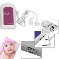 COTEC BABYSOUND A LCD Display Prenatal Fetal Doppler Baby Heart Beat Monitor Free Gel