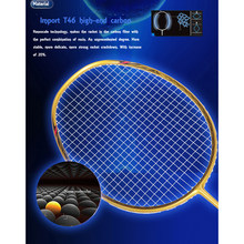 5U 72g Strung Badminton Racket Professional Carbon Badminton Racquet 22-28 LBS free Grips and Wristband(China)
