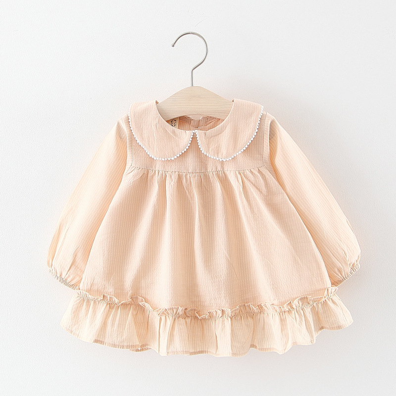 e4f7f80d4f49 Baby dress girls cotton costumes long sleeve infant toddler girls ...