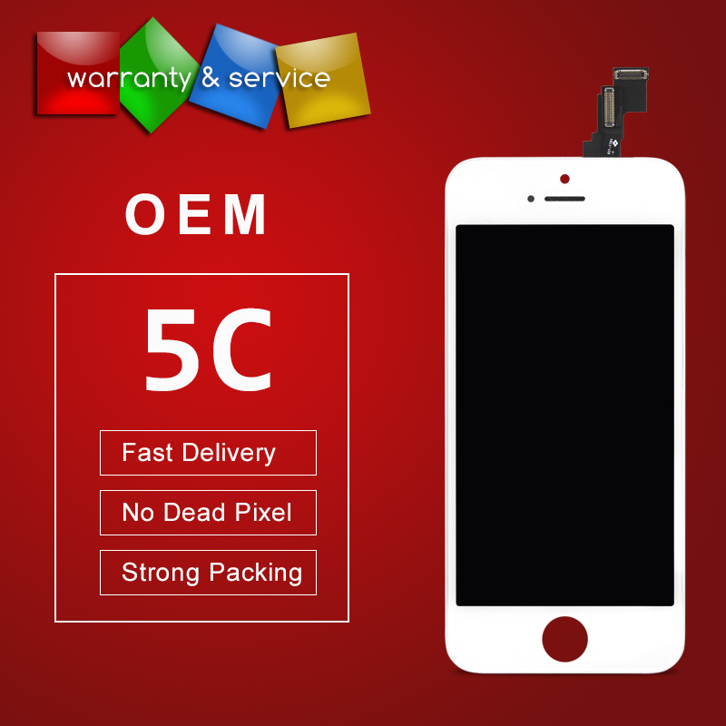 100% test OEM LCD Screen For iPhone 5C Display With Digitizer Touch Screen Replacement Assembly Complete in Black