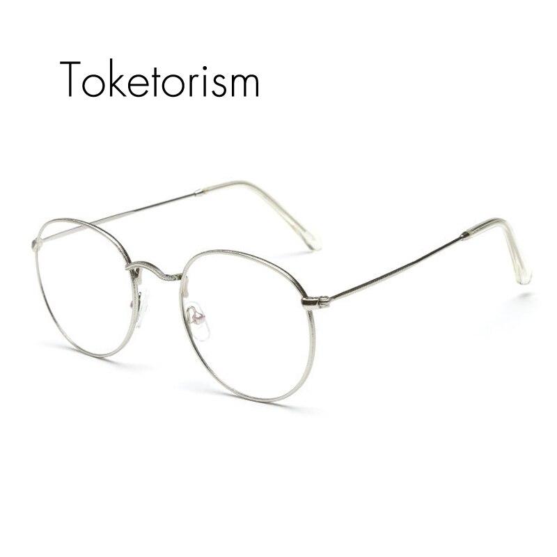 Toketorism Vintage dünne gerahmte nerd brille runde brillen rahmen ...