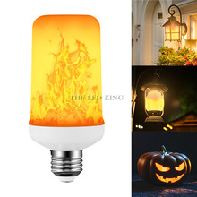 E26 E27 Светодиодный светильник с эффектом пламени SMD2835 Мерцающая декоративная лампа с эффектом пламени 1200K AC85V~ 265V
