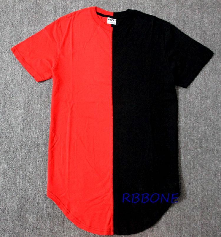 4a1966d823b  BIG SALE  CHEAP Half black white New Designer 2019 Men Summer Extended  Tshirt Hip Hop Street Fashion Casual Short Sleeve T-shirt Men