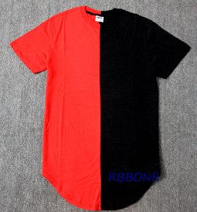 Image 3 - Half zwart wit Nieuwe Designer 2019 Mannen Zomer Extended T shirt Hip Hop Street Fashion Casual Korte Mouw T shirt Mannen