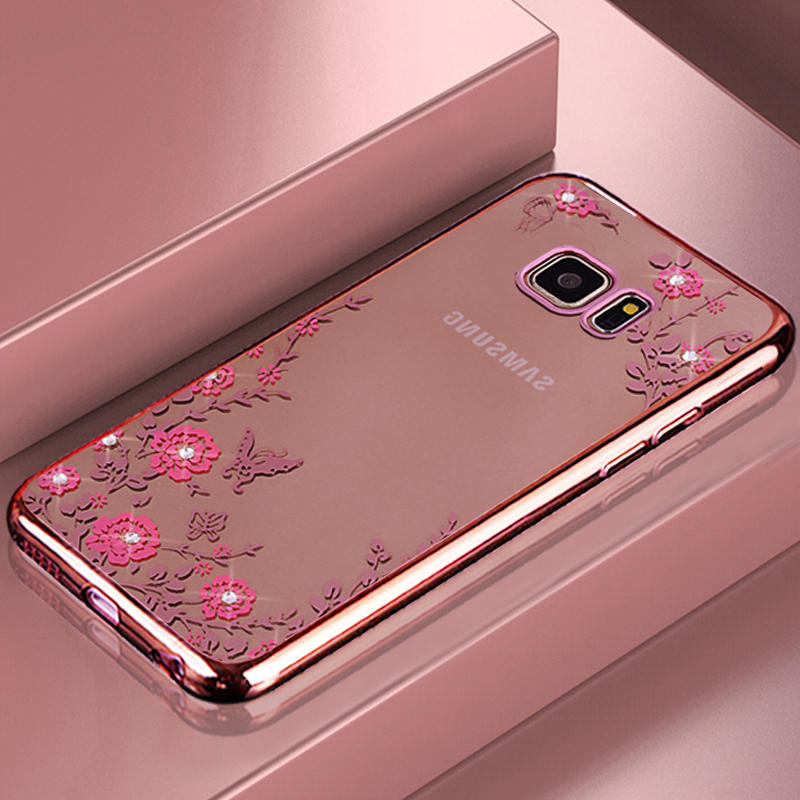 Us 399 20 Offyonlintan Etuicoquecovercase For Samsung Galaxy S7 Edge S7edge S8 S9 Pplus Phone Back Soft Silicone Silicon Rose Gold In