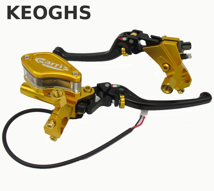 Keoghs Motorbike Brake Master Cylinder And Clutch Lever 12.7mm Universal For Honda Yamaha Kawasaki Suzuki Piaggio Dirt Bike left 1 25mm universal motorcycle brake clutch master cylinder hydraulic pump lever for suzuki yamaha kawasaki honda