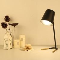 Post современный минималистский исследование гладить Книги по искусству настольная лампа Спальня ночники ретро для чтения светодиодный све
