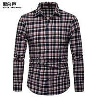 2019 New Autumn Fashion Brand Mens Clothes Slim Fit Men Long Sleeve Shirt Mens Plaid Casual Business Mens Shirt Social Plus Size