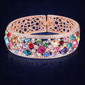 New Styles Bracelets & Bangles 2016 Colorful Crystals From Swarovski Indian Women Bracelet Wedding Jewelry Pulseira Feminina