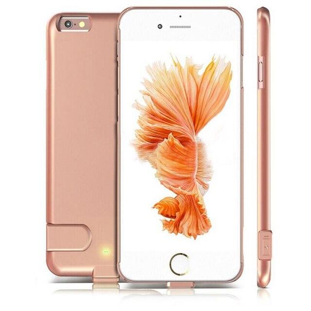 Тонкий Внешний Портативный Корпус Батареи Резервного Копирования Зарядка Power Bank Обложка Для iPhone 6 6 S Plus 5.5 дюймовый 1500 мАч 2000 мАч