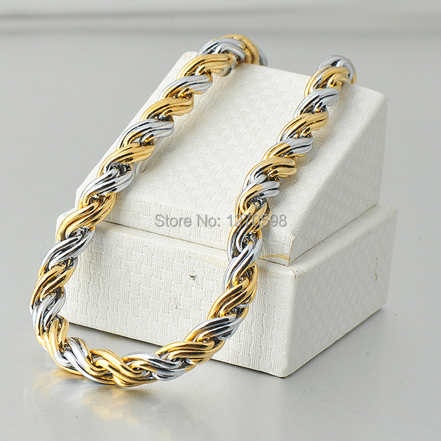 New design gold necklace for men brass rope chain necklace wholesale jewelry