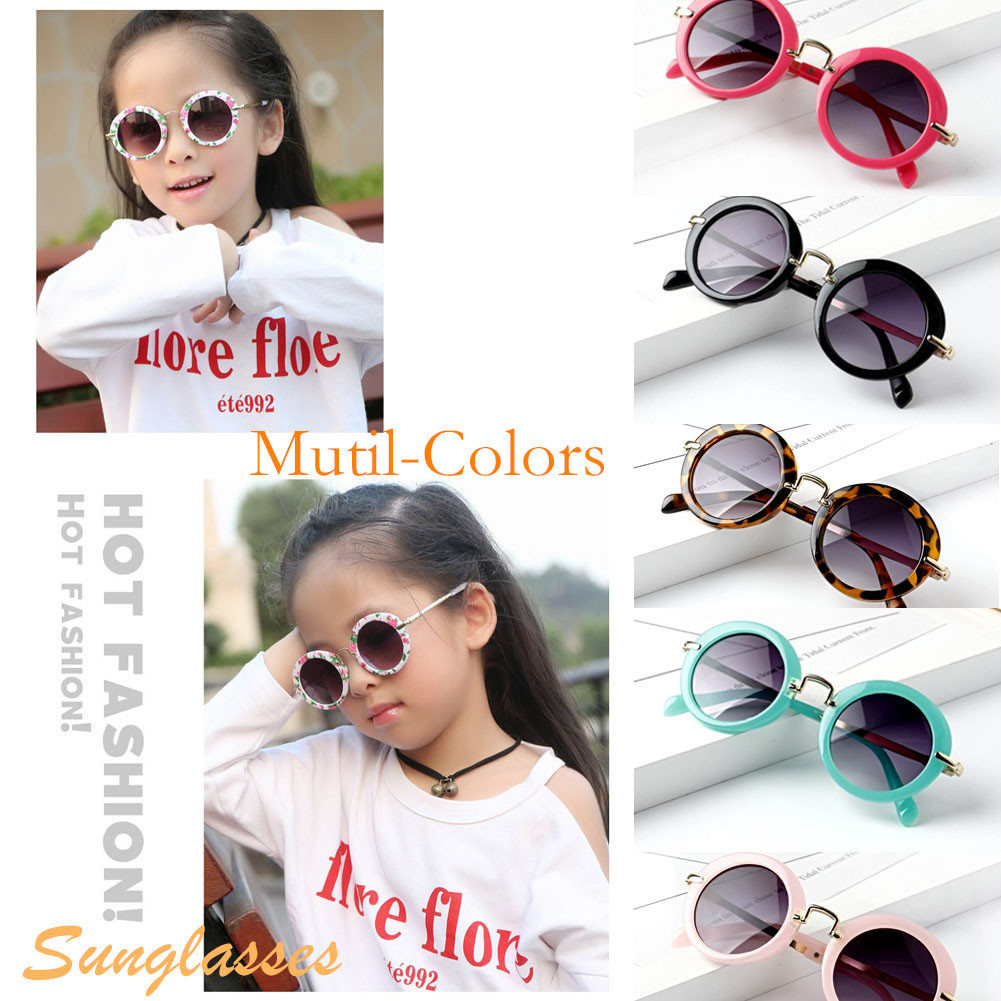 Cool Retro Aviator Sunglasses Metal Frame UV400 Protection Boy Girl Children