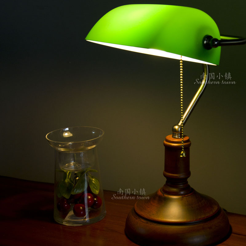 Online Shop Fashion table lamp vintage classic bank lamp bedroom ...