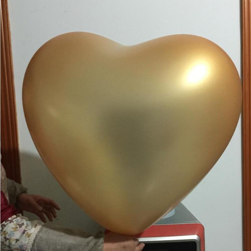 5db / tétel 36 hüvelyk Szív alakú nagy lufi esküvői dekoráció 23g 10 szín Ballon Hélium Inflable100% szereti a latex léggömböket