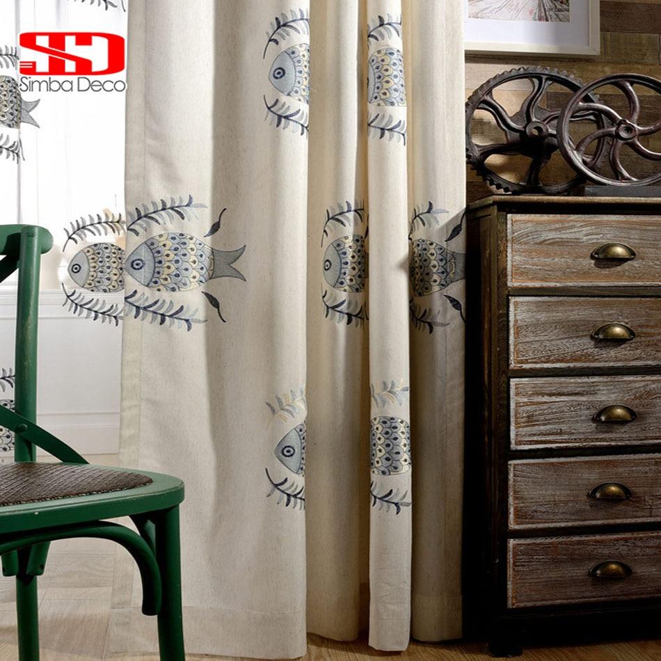 الكتان التعتيم الستائر ل غرفة الاطفال - منسوجات منزلية