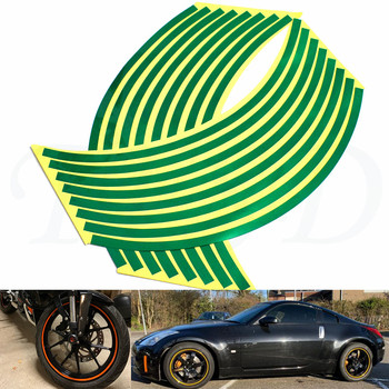 Car motorcycle Tire Rim Stickers 17-19 Reflective Car-Covers Tape Wheel Tyre Sticker Decors For Aprilia RSV MILLE/R TUONO/R image