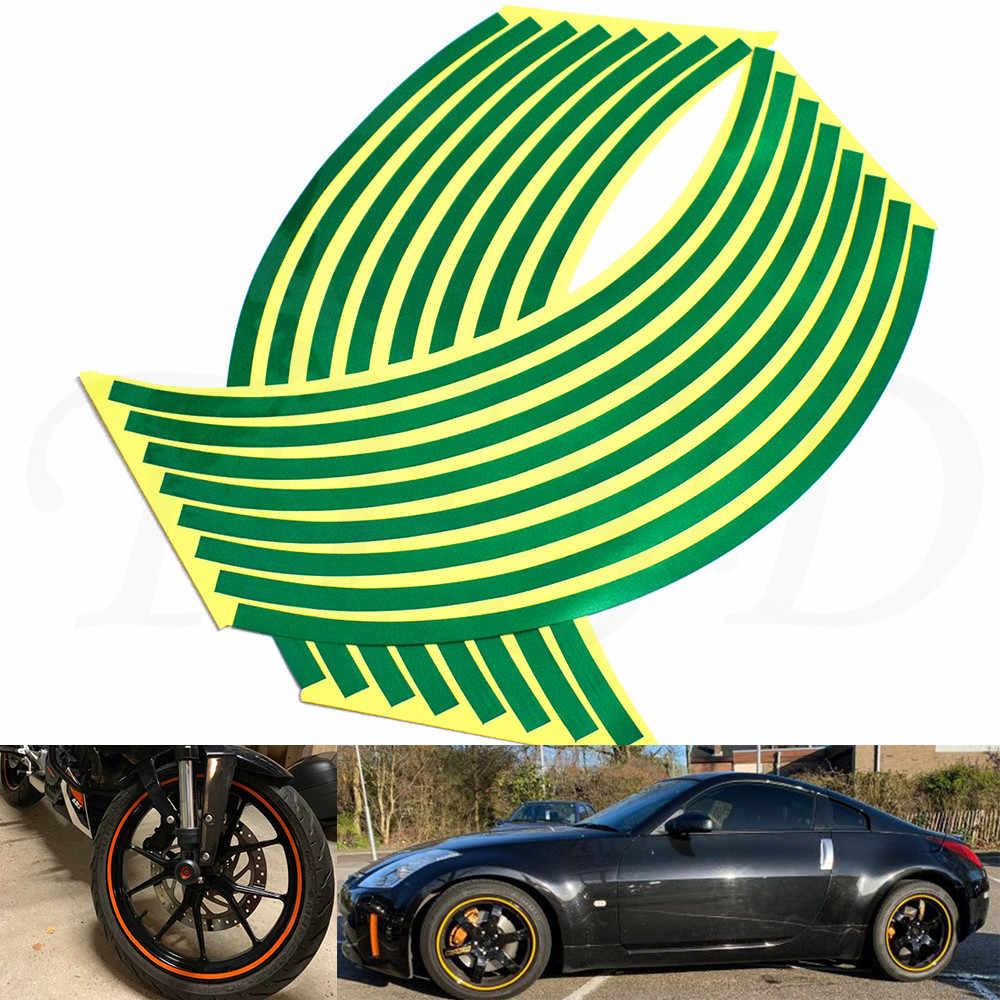 "Pegatinas de llanta de neumático de motocicleta de coche 17 ""-19"" cinta reflectante para cubiertas de coche pegatina para neumático decoraciones para Aprilia RSV MILLE/R TUONO/R"
