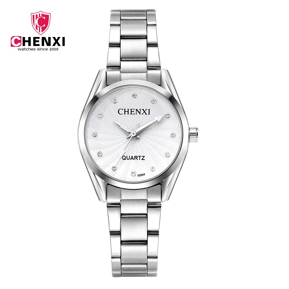 CHENXI Fashion Business Quartz Watch Women Top Brand Luxury Stainless Ladies Watches Rhinestone Wristwatches relogio feminino onlyou luxury brand fashion watch women men business quartz watch stainless steel lovers wristwatches ladies dress watch 6903