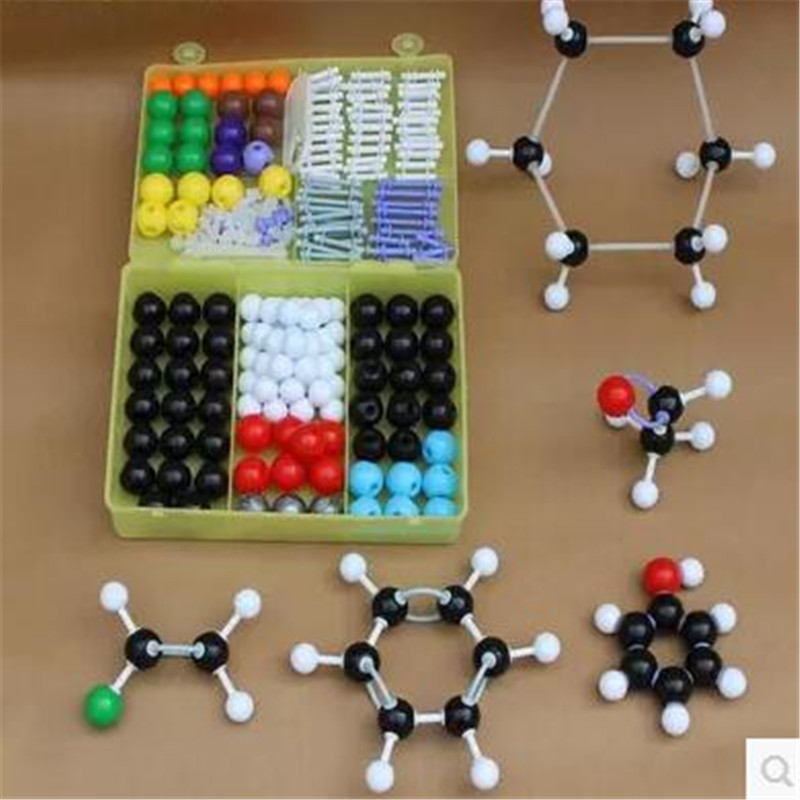 267pcs Scientific Inorganic Organic Chemistry Scientific Atom Molecular Models Links Kit Set Free Shipping type1004 scientific sense
