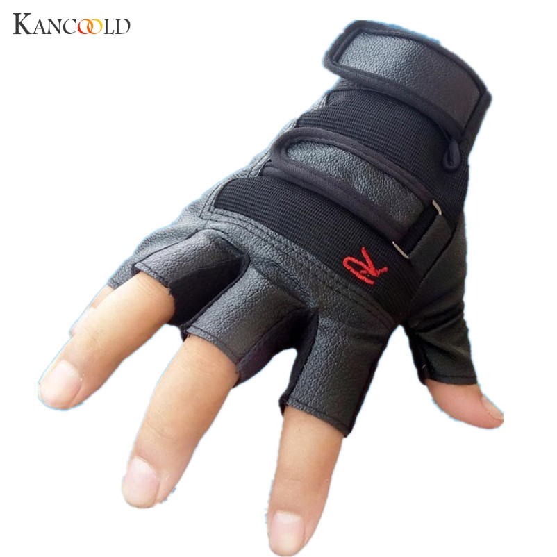 Apparel Accessories Warblade High Quality Men Genuine Leather Gloves Slip-resistant Luvas Half Finger Sheep Leather Fingerless Gym Fitness Gloves