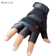 Newly Fashion Gym Gloves Fingerless Men Women Gloves for Fitness Work Out Palm Wrist Protection Mittens