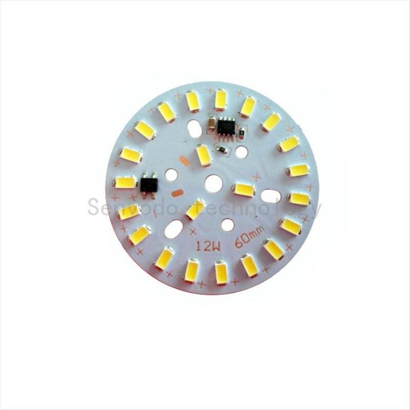 10X высокое качество 220V Алюминиевый pcb светильник для DIY проекта 3 W/5 W/7 W/10 W/12 W/15 W/18 W/24 W