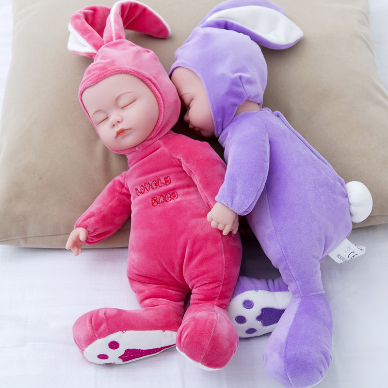 14 Inch Stuffed Baby Born Doll Toys For Children Silicone Reborn Alive Babies Lifelike Kids Toys