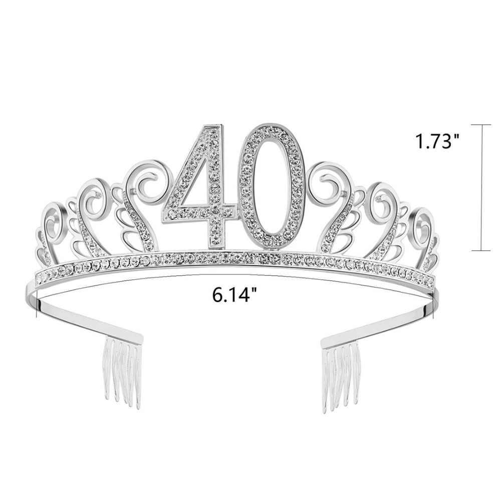 ... Happy Birthday Crystal Tiara Birthday Crown Princess Hair Accessories  Silver Rhinestone Happy 40th Birthday ... d5284ab65bf6
