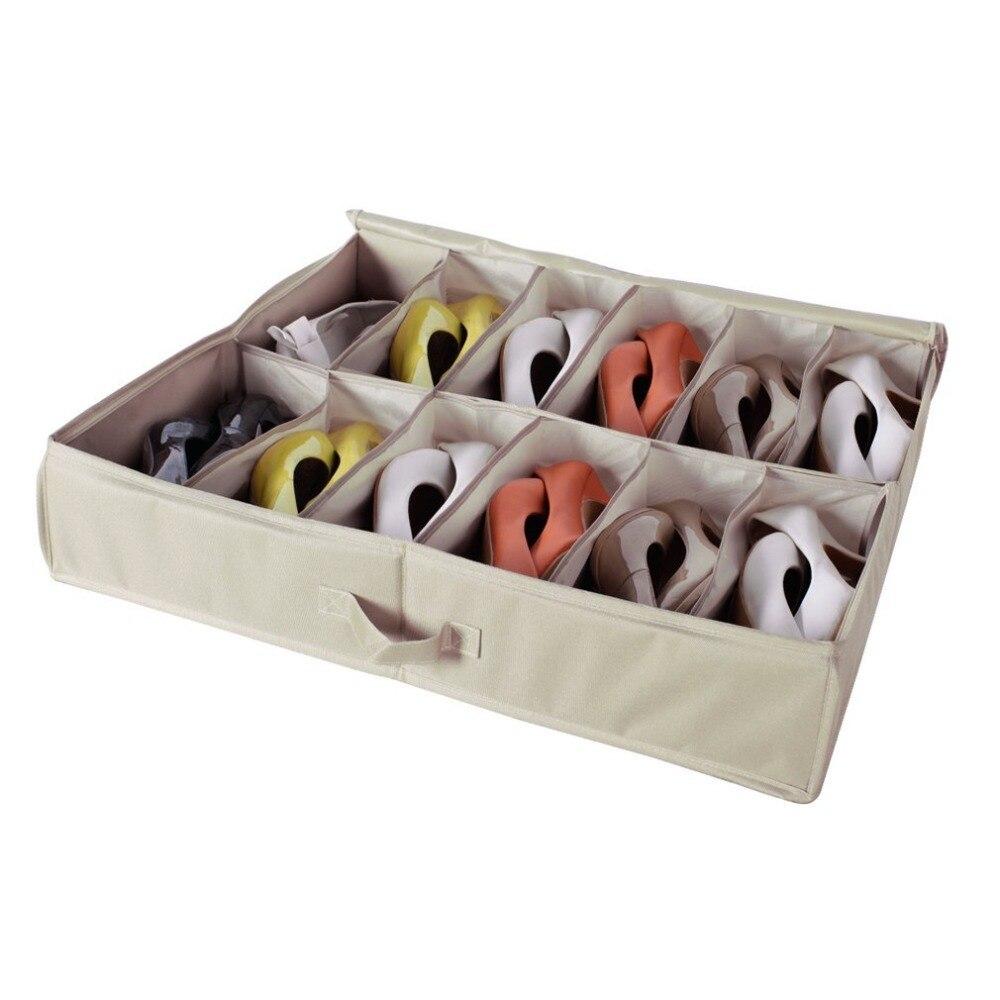 Sturdy Underbed Shoe Storage.Storagemaniac 12 Pair Underbed Shoe Organizer 12