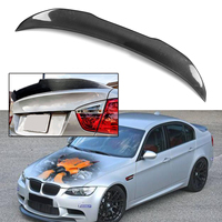 Real Carbon Fiber Trunk Spoiler Lid Wing For 2006 11 For BMW E90 3 Series M3 4 Door Sedan Rear Wing Spoiler Lip Rear Trunk Roof
