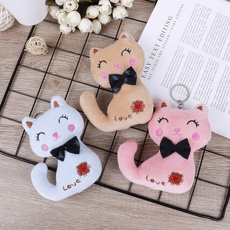 New Bouquet Plush Dolls NEW 10cm/12cm Cat Plush , Animal Stuffed Kitty Cat Key chain TOY, Kid's Party Plush toy