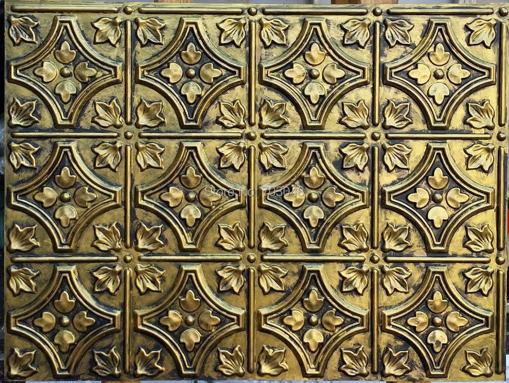 Plb28 Faux Paint Ancient Pvc Wall 3d Panels Fireproof