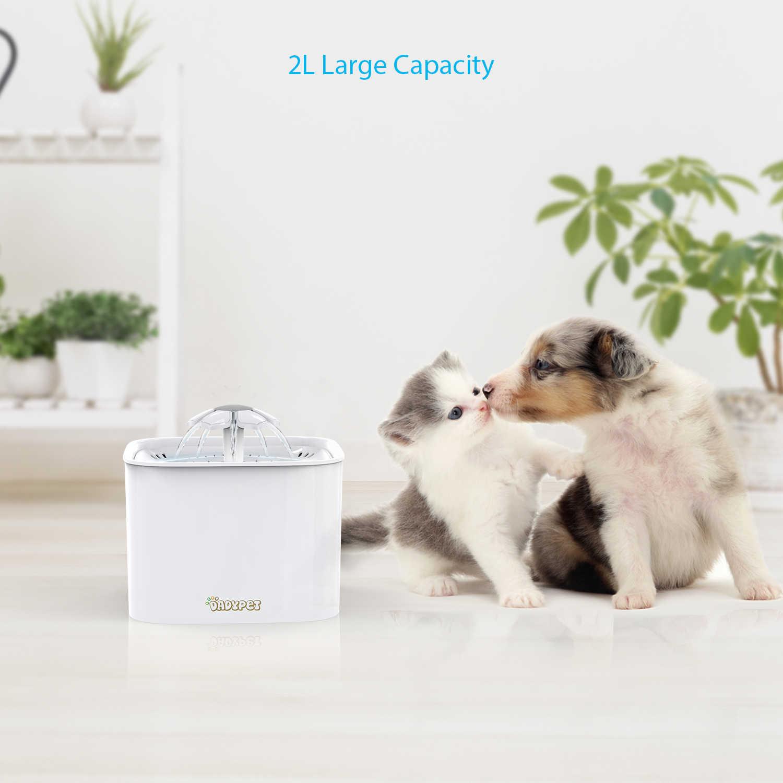 Pet dog автоматические кормушки фонтан воды электрическая чаша воды с фильтром 2L большой емкости 2 Вт насос для кошки собачья миска для воды