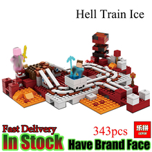 Lepin Minecraft 343pcs hell adventure ice My World Set Model figures Building Blocks Bricks fun Toys For Children