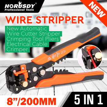5 in1 Automatic Cable Wire Stripper Cutter Crimper Tool Self Adjusting Multifunctional Crimping Stripping Plier Tools non welding crimping with standard electical connection crimping plier crimper capacity 6 5 50 square mm