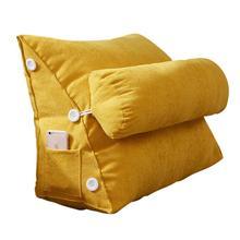 Nordic Simple Sofa Cushion Plush Bed Backrest Living Room Pillows Zipper Patio Chair Cushions Cojines Blancos Chair Pad 50KD05 цена 2017