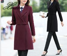 2020 new women's long coat wool woolen windbreaker jacket autumn and winter coat women s-3xl