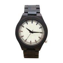 Simple Moda Hombre Relojes de Madera De Madera Correa de Reloj de Cuarzo Reloj de Pulsera de Hombre Casual TT @ 88
