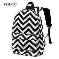 Korean Style Designer Striped Zipper Canvas Backpack Teen Girls School Bags Large Travel Sport Laptop Backpacks