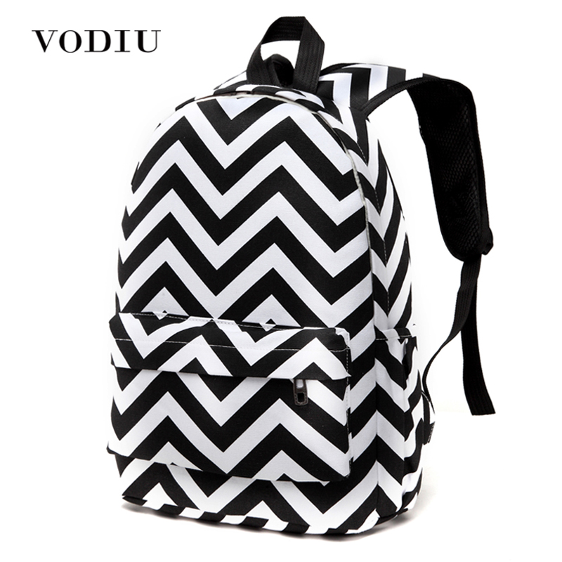 Korean Style Designer Striped Zipper Canvas Backpack Teen Girls School Bags Large Travel Laptop Female Backpacks Mochilas Women 2017 harajuku style galaxy cosmos zipper canvas women men backpacks printing school bags teens girls boys travel large mochila