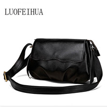 LUOFEIHUA  2019 new crocodile crossbody bag Leather shoulder woman packet Small square package