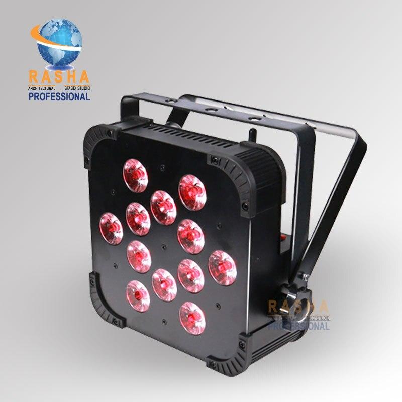 新 12 個 * 18 ワット 2.4 グラムワイヤレス受信機 6in1 RGBAW UV Wifi DMX LED フラットパー缶、 UV 色 LED Sliam パー光ディスコクラブパーティー -