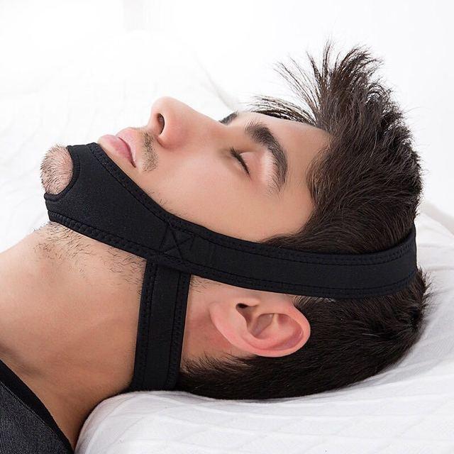 New Neoprene Anti Snore Stop Snoring Chin Strap Belt 1
