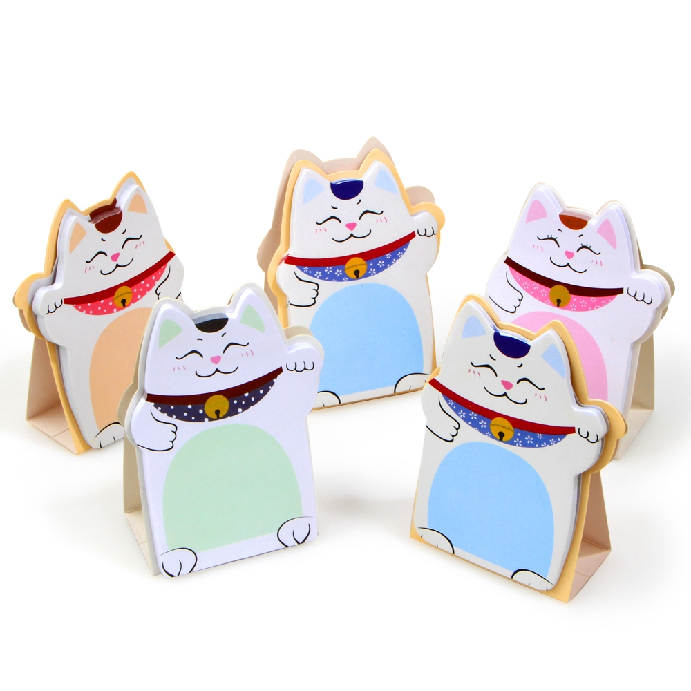 1Pack New DIY Lucky Cat Memo Pad Sticky Label Post it School Sticky Note Office Supplies Stationery E2041