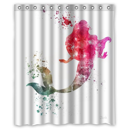 CHARMHOME Customized Shower Curtain Mermaid Pattern