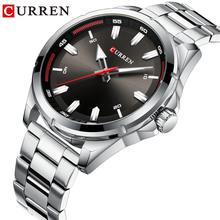 CURREN Men Watches Sport Waterproof Multifunction Stainless Steel Luxury Brand Quartz Wristwatch Calendar Large Dial Clock